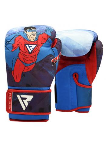 Боксерские перчатки детские RDX MOTIF синие