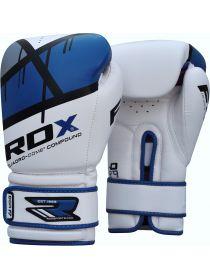 Боксерские перчатки детские RDX EGO бело-синие