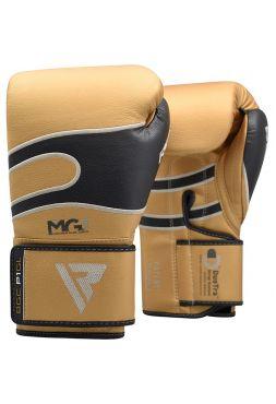 Боксерские перчатки RDX Sparring Training leather золотые