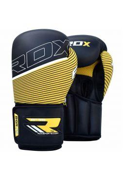 Боксерские перчатки RDX Fitness QUADRO-DOME Leather-X желтые