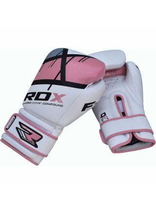 Боксерские перчатки RDX EGO Ladies бело-розовые