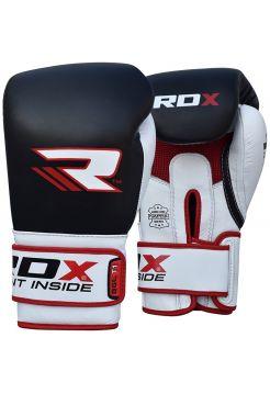 Боксерские перчатки RDX Leather Gel Tech черные