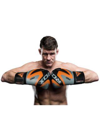 Боксерские перчатки RDX MMA Boxing Training Gloves черно-оранжевые