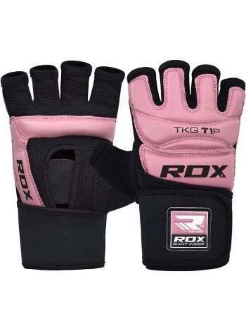 Перчатки для тхэквондо RDX WTF TKD розовые