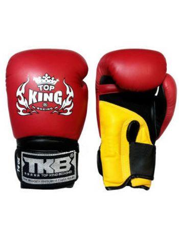Боксерские перчатки Top King TKBGSA SUPER AIR красно-желтые