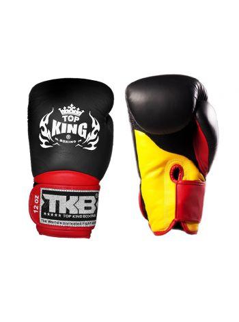 Боксерские перчатки Top King TKBGSA SUPER AIR черно-красные с желтым