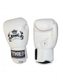 Боксерские перчатки Top King KPBGV-211 белые на липучке