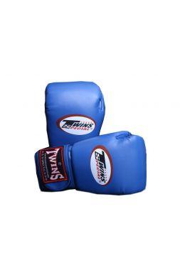 Боксерские перчатки TWINS BGVL3 синие из инженерной кожи
