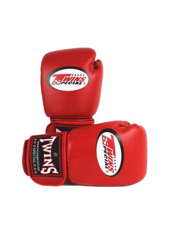 Боксерские перчатки TWINS BGVL3 красные из инженерной кожи