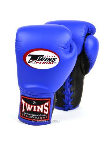 Боксерские перчатки Twins Lace-up Competition BGLL-1 синие