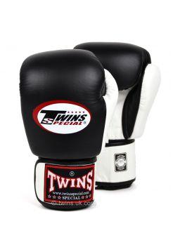 Боксерские перчатки Twins BGVL-3T черно-белые