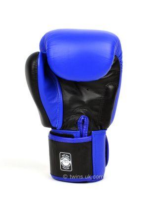 Боксерские перчатки Twins BGVL-3T сине-черные