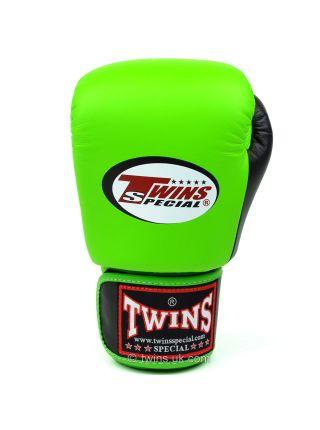 Боксерские перчатки Twins BGVL-3T зелено-черные