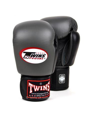 Боксерские перчатки Twins BGVL-3T серо-черные