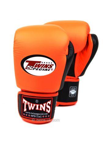 Боксерские перчатки Twins BGVL-3T оранжево-черные