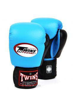 Боксерские перчатки Twins BGVL-3T голубо-черные