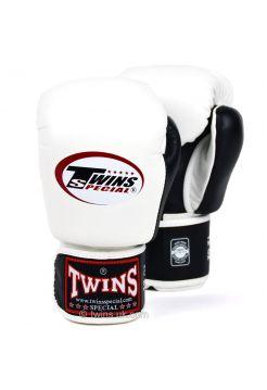 Боксерские перчатки Twins BGVL-3T бело-черные