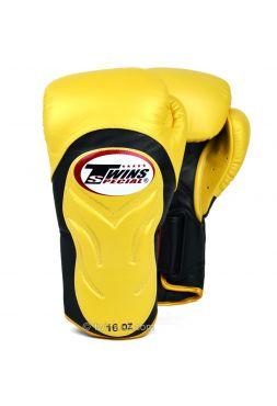 Боксерские перчатки Twins Deluxe Sparring BGVL-6 золотые