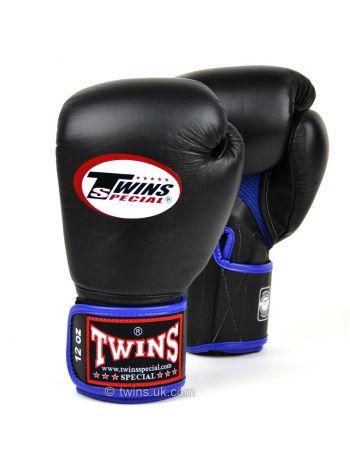 Боксерские перчатки Twins AIR BGVLA-1 черно-синие