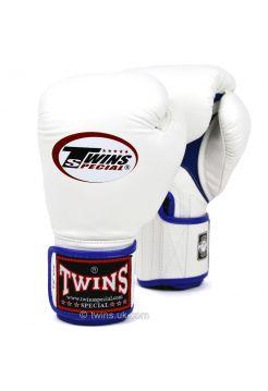 Боксерские перчатки Twins AIR BGVLA-1 бело-синие