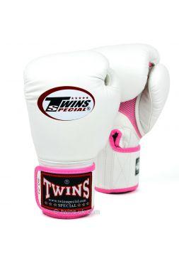 Боксерские перчатки Twins AIR BGVLA-1 бело-розовые