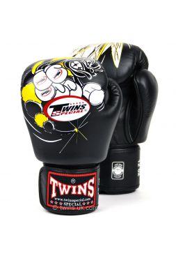Перчатки для бокса Twins FBGV-15 черные