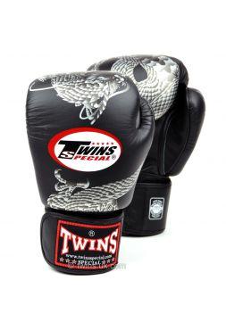 Боксерские перчатки Twins FBGV-23 черно-серебряные