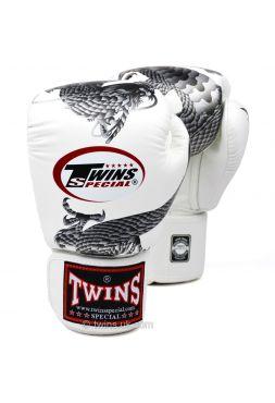 Боксерские перчатки Twins FBGV-23 бело-серебряные