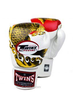 Боксерские перчатки Twins FBGV-34 бело-золотые