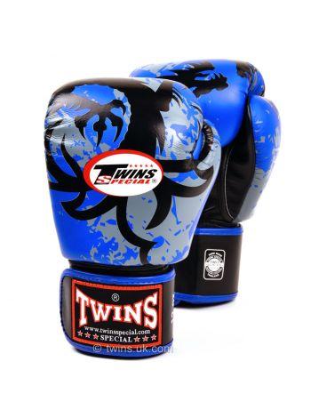 Боксерские перчатки Twins FBGV-36 сине-серые