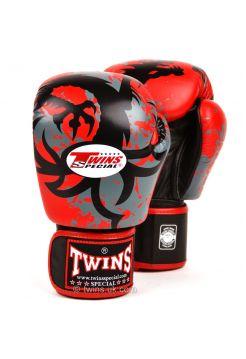 Боксерские перчатки Twins FBGV-36 красно-серые