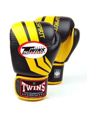 Боксерские перчатки Twins FBGV-43 черно-желтые