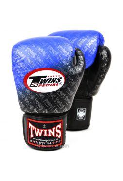 Боксерские перчатки Twins FBGV-TW1 черно-голубые