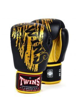 Боксерские перчатки Twins FBGV-TW3 черно-золотые