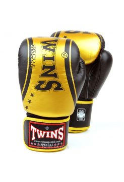 Боксерские перчатки Twins FBGV-TW4 черно-золотые