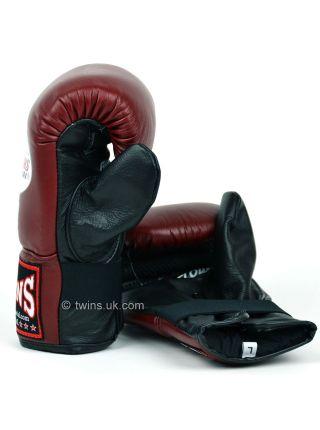 Снарядные боксерские перчатки Twins Air Flow Bag TBGL-6F бордово-черные