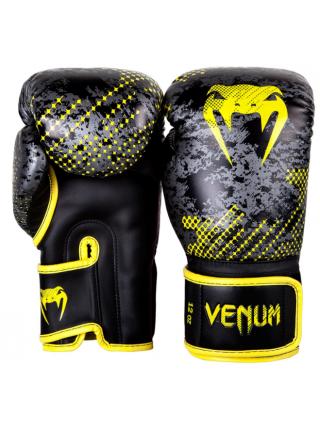 Перчатки для бокса VENUM TRAMO черно-желтые