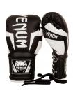 Боксерские перчатки VENUM ELITE черно-белые