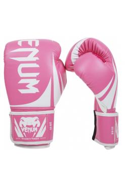 Боксерские перчатки VENUM CHALLENGER 2.0 розово-белые