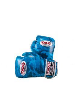 Боксерские перчатки детские Yokkao KIDS Blue ARMY