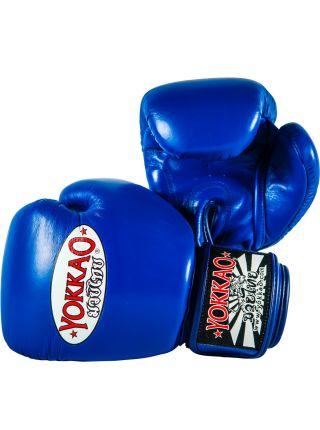 Боксерские перчатки Yokkao Matrix синие