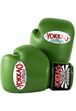 Боксерские перчатки Yokkao Matrix зеленые