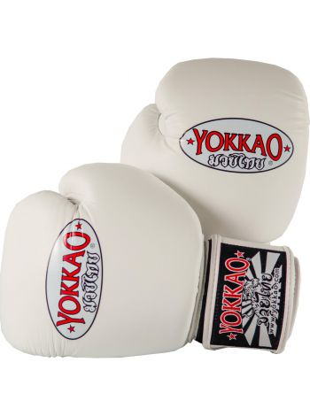 Боксерские перчатки Yokkao Matrix белые