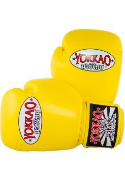 Боксерские перчатки Yokkao Matrix желтые