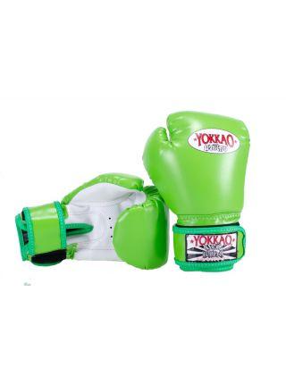Боксерские перчатки детские Yokkao Air 2.0 зеленые