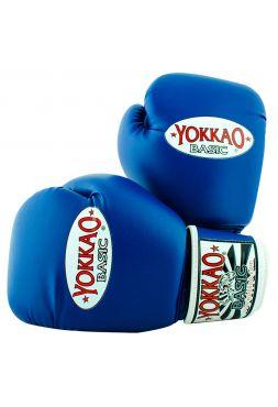 Боксерские перчатки Yokkao Syntex синие