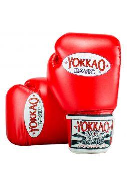 Боксерские перчатки Yokkao Syntex красные