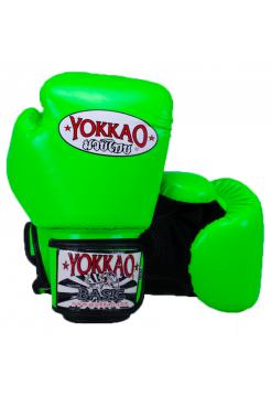 Боксерские перчатки Yokkao Syntex ярко-зеленые