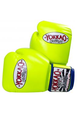 Боксерские перчатки Yokkao Syntex ярко-желтые