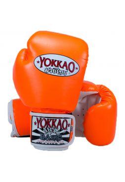 Боксерские перчатки Yokkao Syntex ярко-оранжевые